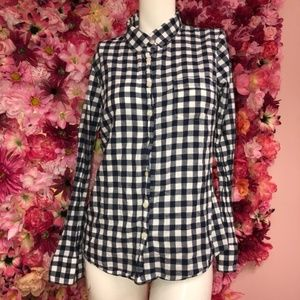 J.Crew Blue N White Top Size Small